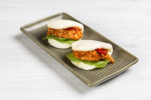 Chilli Moreton Bay bug steamed bun with crispy garlic2