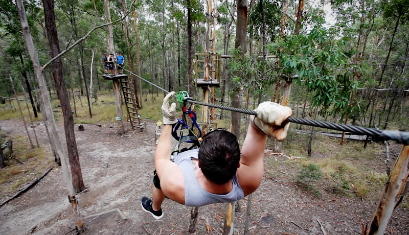 Flying Fox Zip Line Gold Coast
